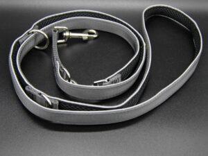 Hundeleine Silver-Black-Edition, M