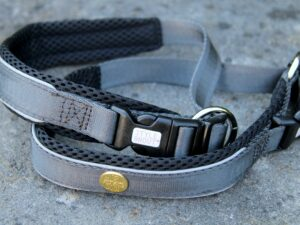 Hundehalsband Silver-Black-Edition, S