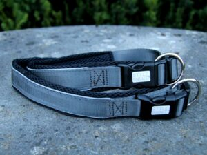 Hundehalsband Silver-Black-Edition, M