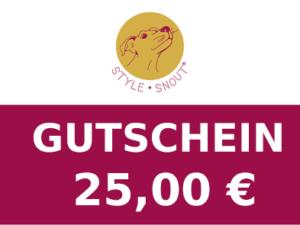 Gutschein im Wert von 25,00 €