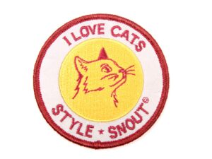 Sticker – Patch it! – I LOVE CATS, 6cm
